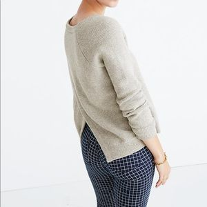 Madewell Province Cross Back Pullover Sweater M
